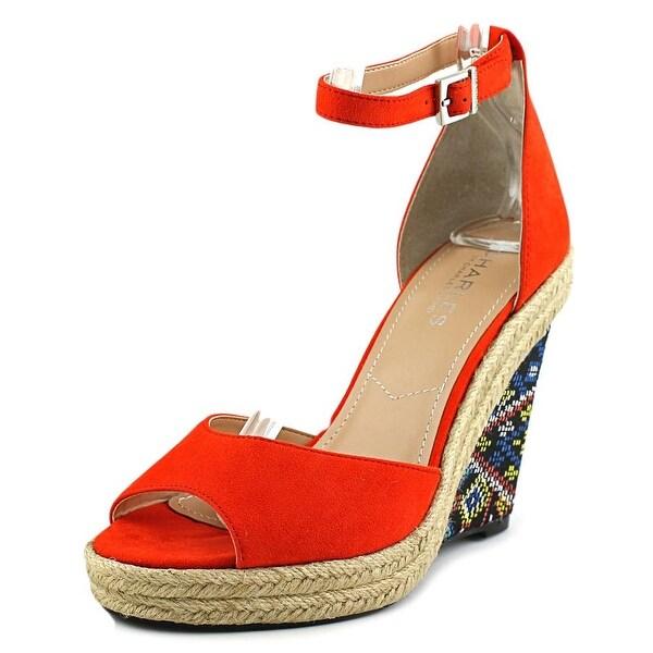 Charles By Charles David Bay Women Open Toe Synthetic Orange Wedge Heel