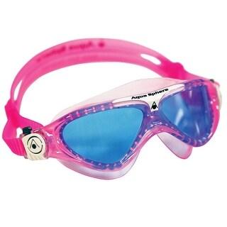 Aqua Sphere Vista Jr. Blue Lens Swim Goggles - Pink/White