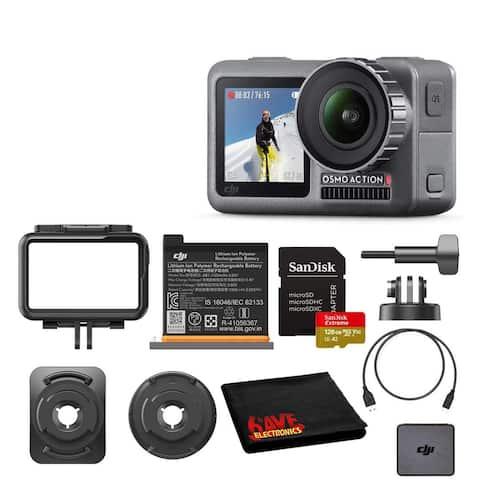 DJI Osmo Action 4K HDR Waterproof Camera with Dual Screens SanDisk