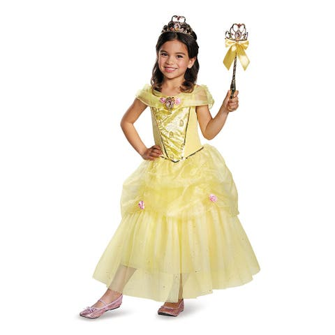 Girls Deluxe Belle Disney Princess Costume