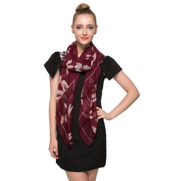 Elegant Women Dragon Fly Print Soft Long Scarf Wrap Shawl