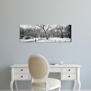 Easy Art Prints Panoramic Image 'Bare trees during winter in a park, Central Park, Manhattan, New York City' Canvas Art