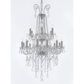 Crystal 18 Light Traditional Chandelier 2 Tier