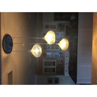 Signature Design by Ashley Jodoc Silver Finish Glass Pendant Lights