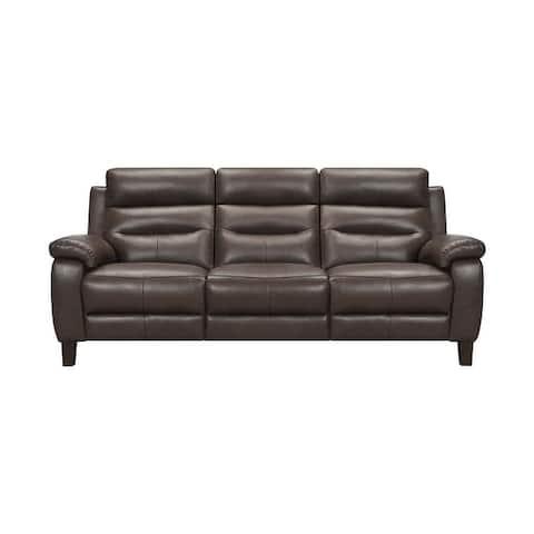 """Hayward 82"""" Dove Gray Leather Power Reclining Sofa"""