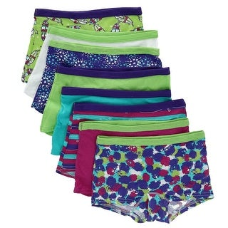 Fruit of the Loom Girl's Boy Short Underwear (8 Pair Pack)