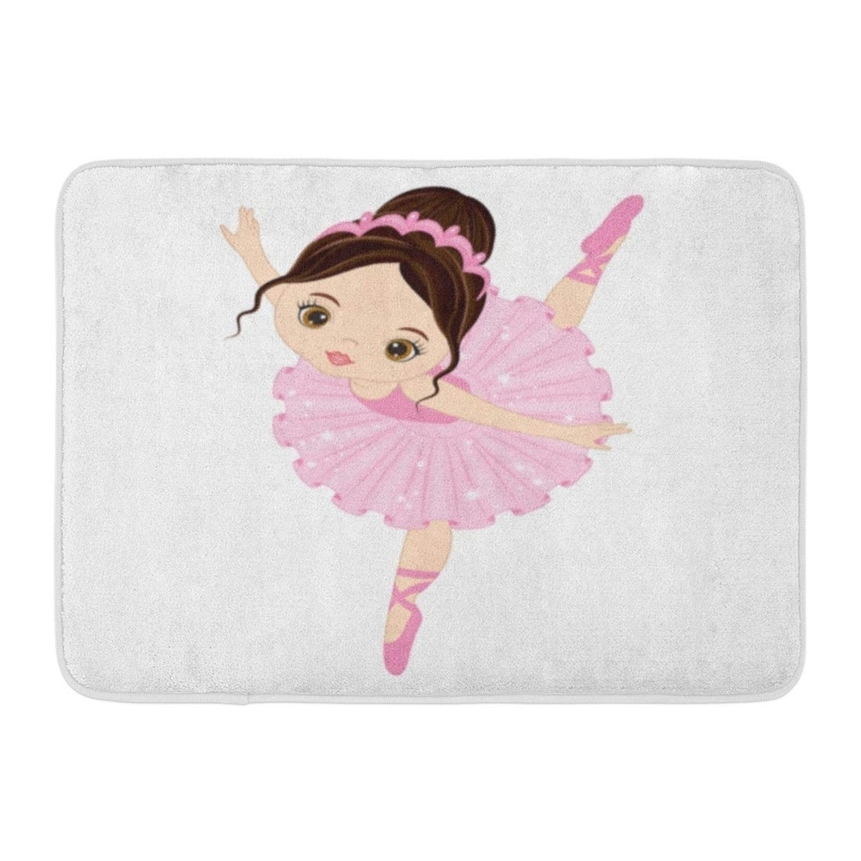 Shop Ballet Cute Little Ballerina Dancing Girl In Pink Dress Dancer Cartoon Doormat Floor Rug Bath Mat 23 6x15 7 Inch Multi Overstock 31775112
