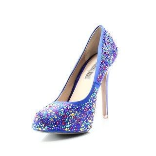 INC NEW Blue Rhinestones Women's Size 7M Stilettos Round Toe Pumps