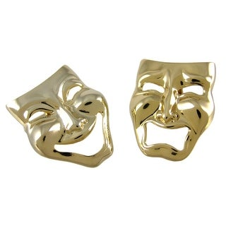 Gold Plated Comedy / Tragedy Mask Cufflinks Acting