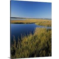 Premium Thick-Wrap Canvas entitled Salt marsh, Autumn high tide, Westport, MA