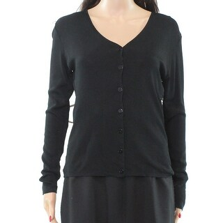 AK Collection NEW Black Women's Size Small S Buttoned Cardigan Sweater