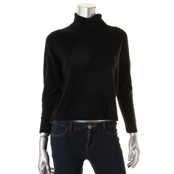 Karen Scott Womens Turtleneck Sweater Rib Trim Turtleneck