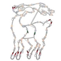 18 in. Lighted Reindeer Christmas Window Silhouette Decoration