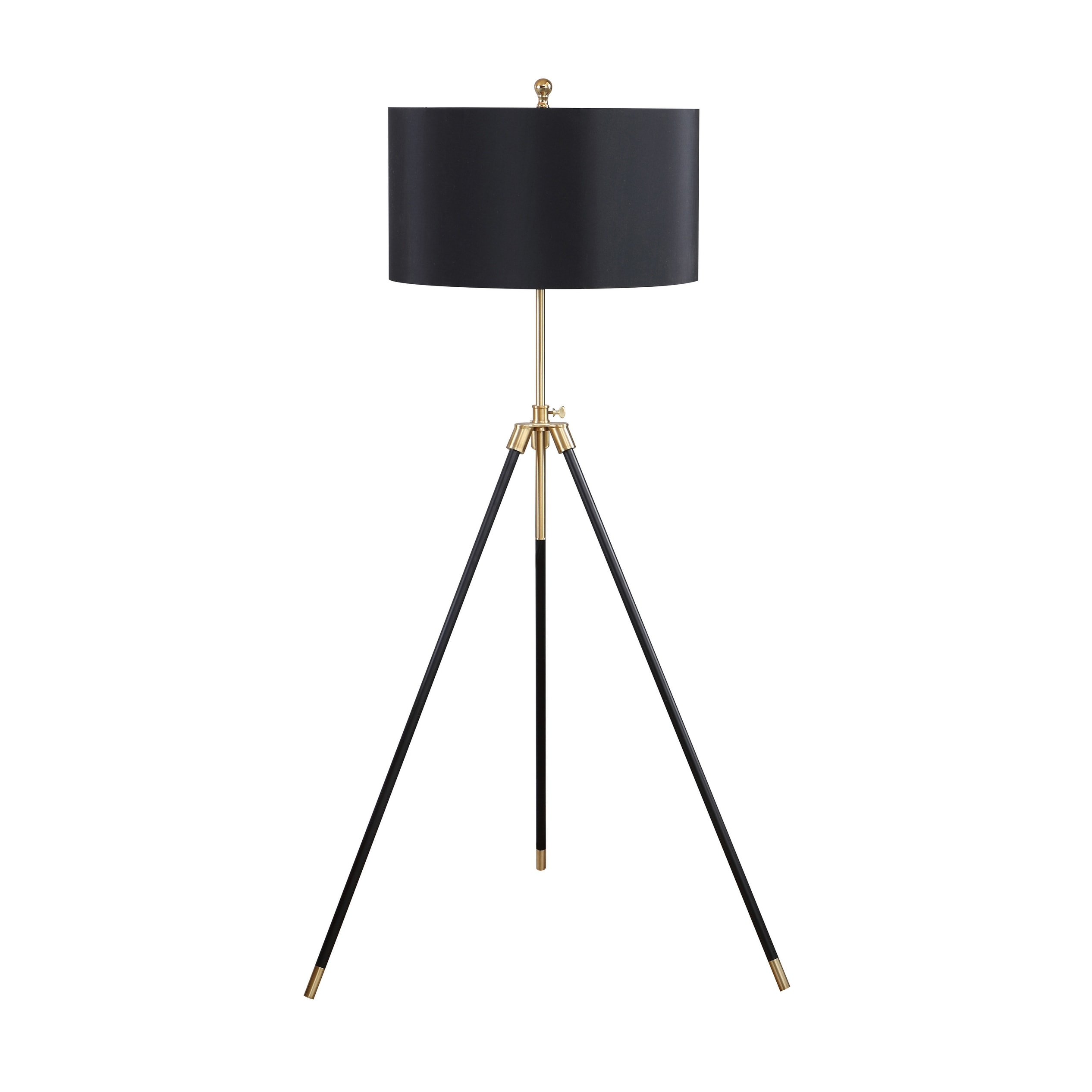 Shop Black And Gold Tripod Floor Lamp Overstock 32247762