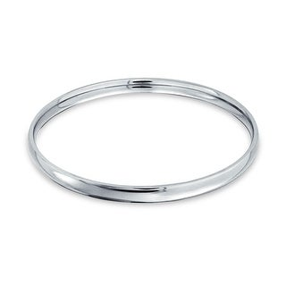 Bling Jewelry Comfort Fit Stainless Steel Dome Stacking Bangle Bracelet