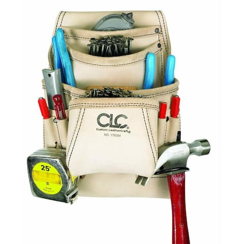 CLC 179354 Carpenters Nail & Tool Bag, 10 Pockets