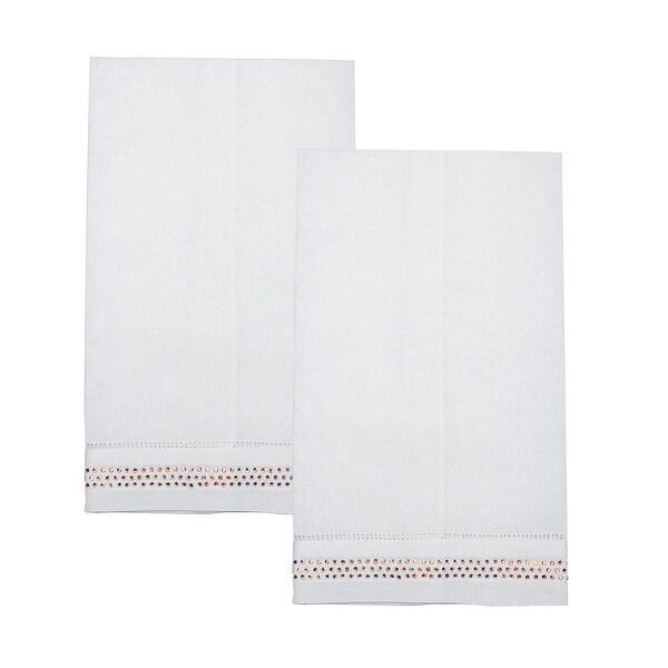 Sparkling Kitchen Rhinestone Studded Linen Tea Towel