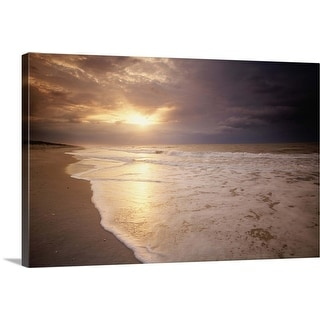 """Sunset on the beach of the Gulf of Mexico, Florida, USA"" Canvas Wall Art"