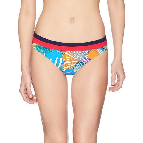 Trina Turk Blue Womens Size 6 Printed Bikini Bottom Swimwear
