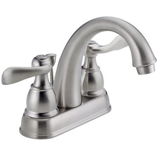 Delta 25996-LF-BN-ECO Windemere Two Handle Lavatory Pop-Up Faucet, Brushed Nickel