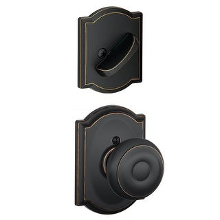 Schlage F94-GEO-CAM Georgian Dummy Interior Pack with Deadbolt Cover Plate and Decorative Camelot Trim