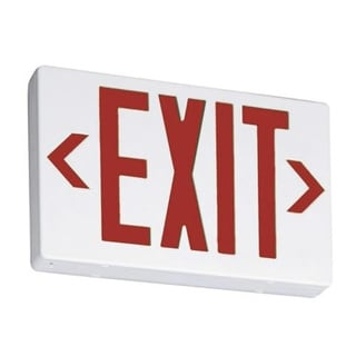 Lithonia Lighting 210LAN Briteway Led Exit Sign, Red
