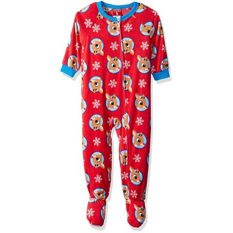 Rudolph the Red Nosed Reindeer Chill Gang 2 Footed Blanket Sleeper