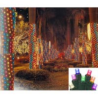2' x 8' Multi LED Christmas Net Style Tree Trunk Wrap Lights - Green Wire