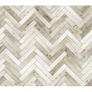 Link to Wood Parquet Removable Wallpaper - 10'ft H x 24''inch W Similar Items in Wall Coverings