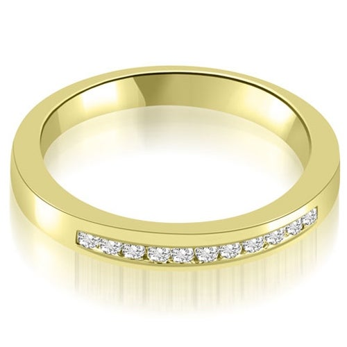 0.13 cttw. 14K Yellow Gold Classic Channel Round Cut Diamond Wedding Band