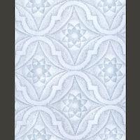 Wallpaper Blue/White Star Embossed Textured Vinyl
