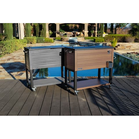 Permasteel 80 Qt. Rustic Furniture Style Patio Cooler