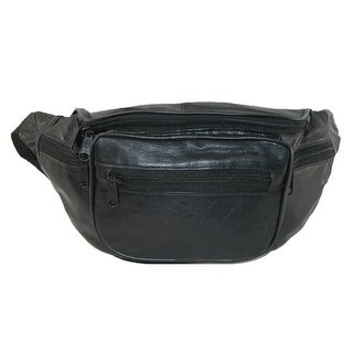 CTM® Leather Multi Pocket Waist Pack