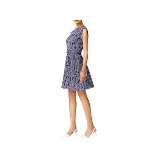 MICHAEL Michael Kors Womens Samara Casual Dress Pleated Printed
