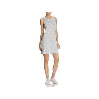 Current/Elliott Womens Juniors Tank Dress Star Print Distressed Blue 1