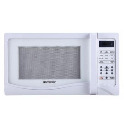 Emerson Mw1107w 1 Cu Ft 1000 Watt Touch Control White Microwave