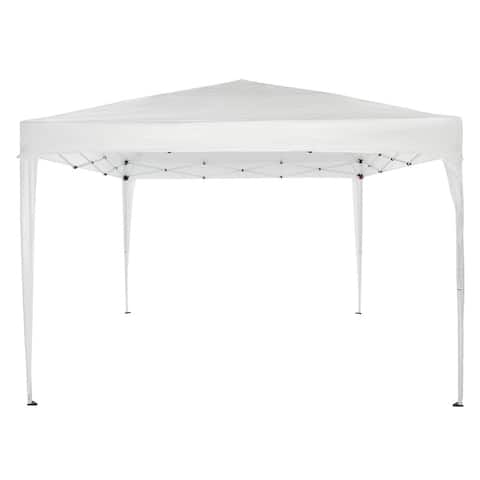 10 FT x 10 FT Waterproof Right-Angle Folding Tent White