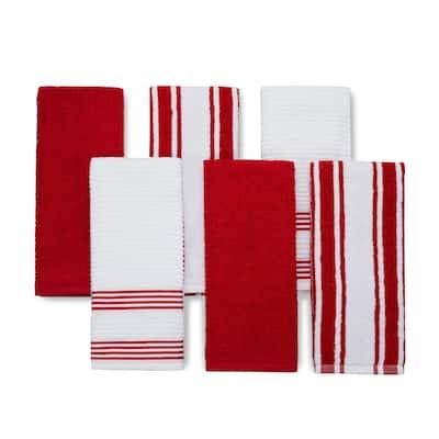 Cotton Terry Kitchen Dish Towel Set of 6