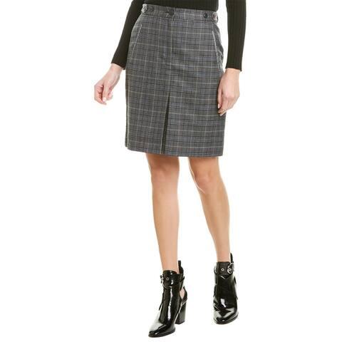 Rag & Bone Meki Wool-Blend Skirt - DKGRY/BL