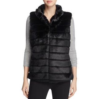 Sioni Womens Vest Faux Fur Quilted