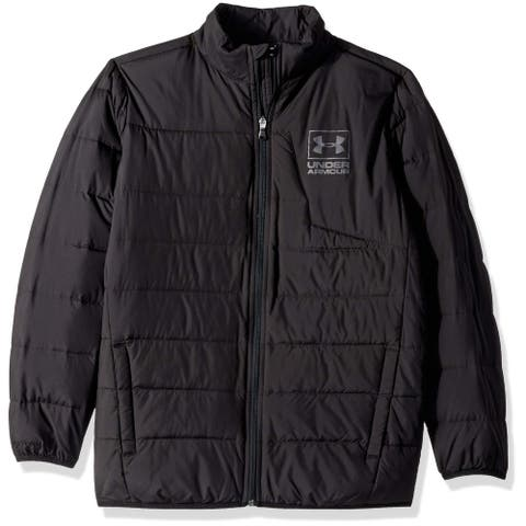 Under Armour Boys' Swarmdown Jacket Black Size Large L Mock-Neck