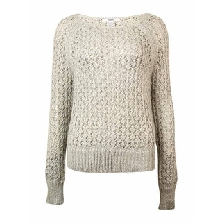 Bar III Women's Long-sleeve Metallic-flecked Sweater - m