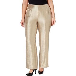 Kasper Womens Plus Audrey Dress Pants Metallic Satin