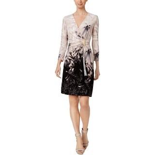 Calvin Klein Womens Wear to Work Dress Faux Wrap Office Wear