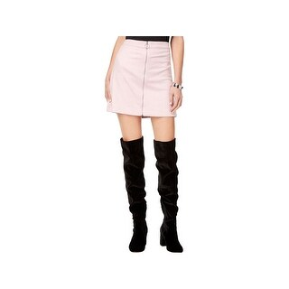 Kensie Womens Mini Skirt Embossed Zipper Front