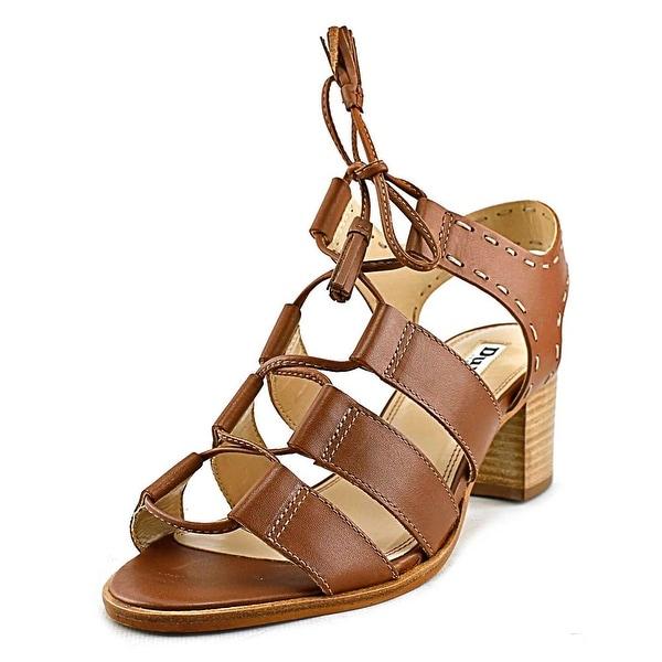 Dune London Ivanna Women Open Toe Leather Tan Sandals