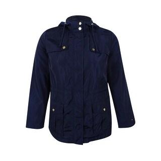 Tommy Hilfiger Women's Anorak Jacket (Navy, L) - navy