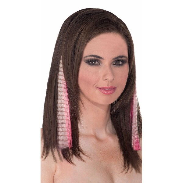 Shop Clip On Pink Zebra Hair Extension Hair Extensions Free
