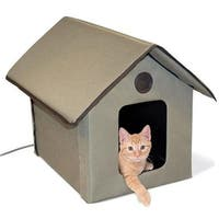 Outdoor Heated Kitty House Outdoor HEATED Kitty House