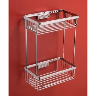 "Bissonnet 642310 City 9-15/16"" Double Tier Shower Basket"